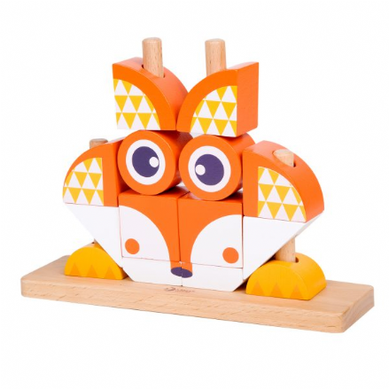 Classic World Wooden Fox Blocks Set